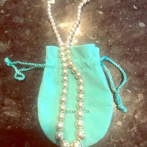 Tifdany&Co graduated beaded necklace